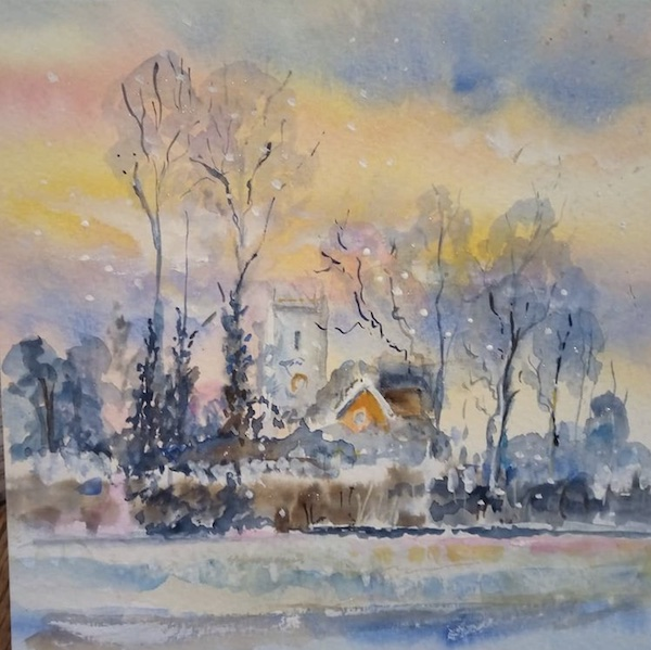winter country painting